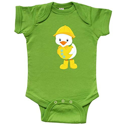 inktastic Cute Duck in Yellow Raincoat and Boots, Baby Duck Infant Creeper