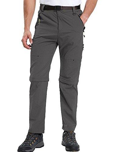 - Men's Outdoor Quick Dry Convertible Lightweight Hiking Fishing Zip Off Cargo Work Pants #9999,Grey,36 (Asia 4XL)