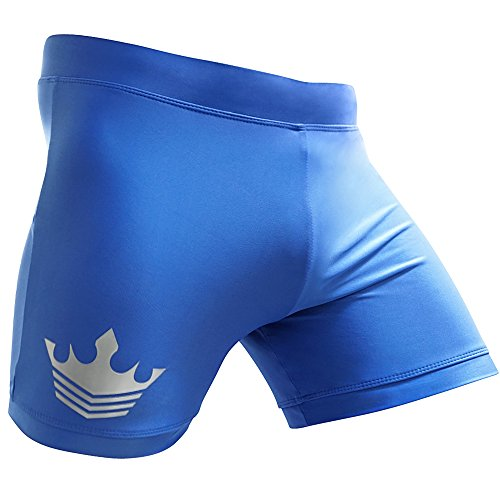 Meister MMA Crown Vale Tudo Fight Shorts - Blue - 34/35