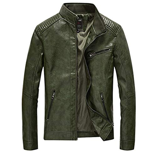 - Oudahood Bomber Jackets Men's Clothing Male Leather Jacket Army Green 5XL