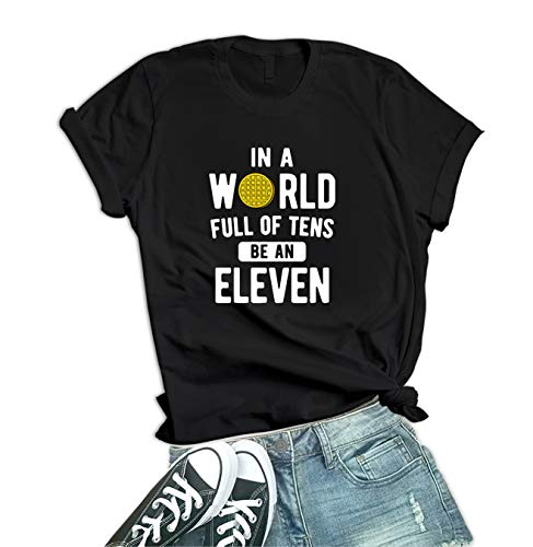 Womens Black Stranger T Shirt - Vintage Things Merch | Be an Eleven, S
