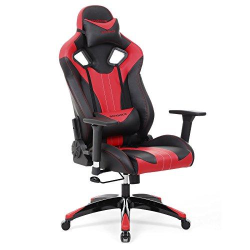 pour Chaise Chaise bureau Songmics gamer de Fauteuil I76gymfbvY