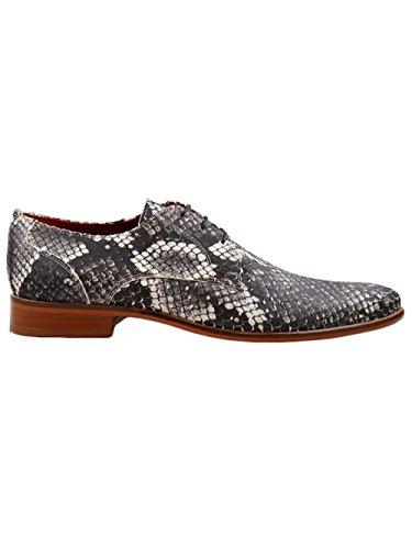 en amp; Texture Hamilton Python Cuir Melvin Chaussures Gris Homme qtzpCvwz