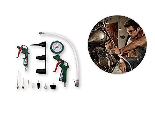 SET DE 11 ACCESORIOS PARA COMPRESOR DE AIRE MANOMETRO PISTOLA DE AIRE SOPLADOR, VALVULA ALEMAN: Amazon.es: Bricolaje y herramientas