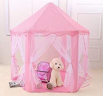 Humanity Pequeña Tienda de campaña Cubierta corazón de la Muchacha de la fantasía del Juego Casa Casa Nórdica Princesa Kid pequeña Sirviente compartida (Color : Pink)