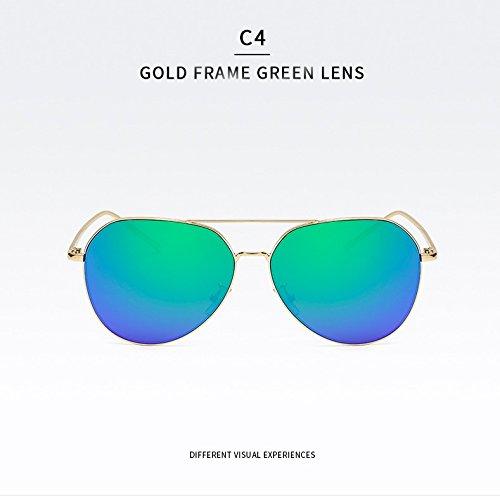 la para Mujer Gafas C4 UV400 clásica de de Ruanyi para Grande Gafas de Gafas Hombre Color Grandes Moda de de Manera Adultos de Gafas C1 Marco Sol Espejo Sol Sol qPggwFdt