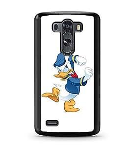 Fashionable Brand New LG G3 Funda Funda Case + Plastic Transparent Hard Funda Funda Case/Covers Disney Donald Duck For Gifts