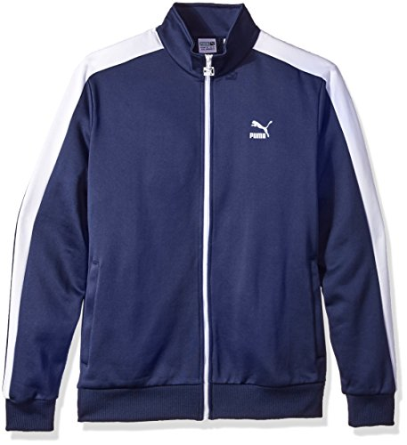 PUMA Men's Archive T7 Track Jacket Peacoat Jacket