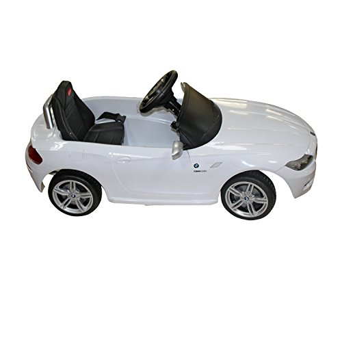 amazoncom bmw z4 kids 6v electric ride on toy car w parent remote control white toys games