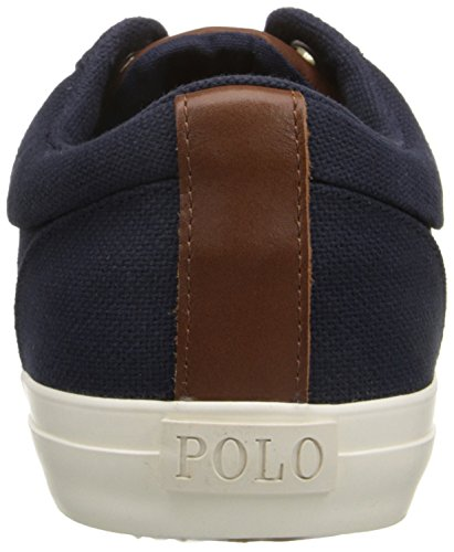 Polo Ralph Lauren Mens Geffrey-sk Mode Gymnastiksko Newport Marin / Tan