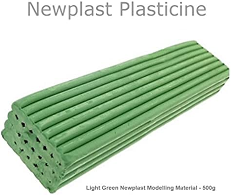 White Newplast Plasticine Modelling Clay Animators Choice Moulding Material Non Toxic Non Hardening Bar 1 Block - 500g