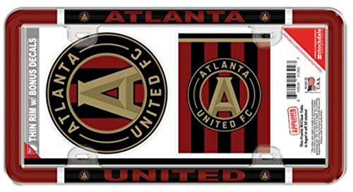 United License Plate - Wincraft MLS Atlanta United License Plate Frame and 2 Decals
