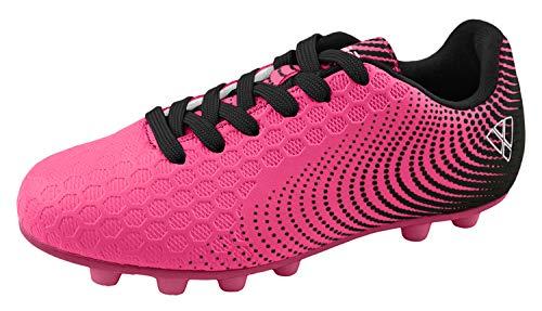 : Vizari Unisex Stealth FG Pink/Black Size 3.5 Soccer Shoe, M US Big Kid