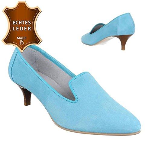 Vrouwen Pompen / Trechter Verkoop / Hoge Hakken / Damesschoenen / Elegante Schoenen / Leder / Turquoise / Blauw