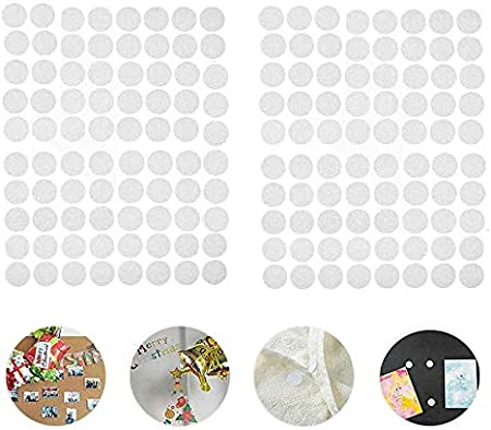 600 Pares Velcr Adhesivo Redondo, Lunares Adhesivo 10mm Velcr Adhesivo Cintas Autoadhesivo Puntos Pegajoso Monedas Puntos
