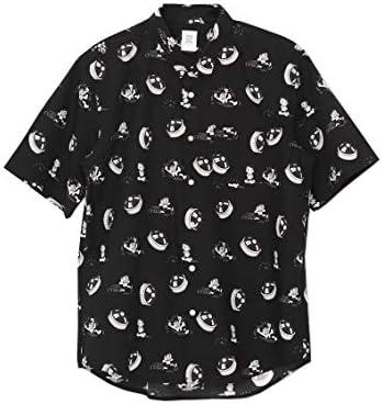 (グラニフ) graniph ドラえもん 総柄 シャツ/ひみつ道具 「どくさいスイッチ」 パターン (ドラえもん) (ブラック) メンズ レディース (g102) (g109)