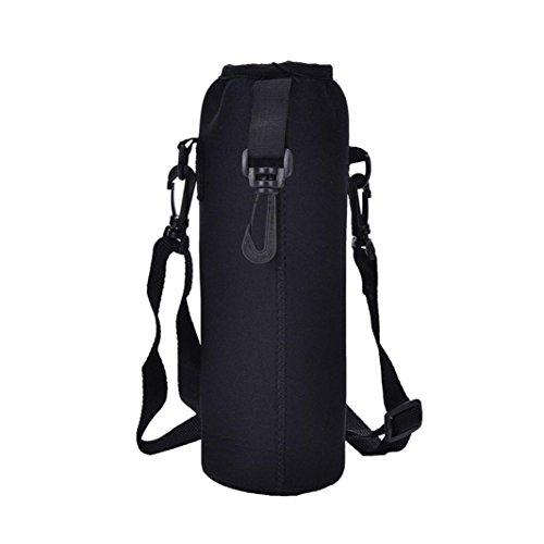 Vovotrade 1000ML Water Bottle Carrier Insulated Cover Bag Holder Strap Pouch (Insulated Band Bottle)