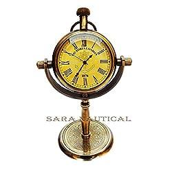 Sara Nautical Victoria London Anchor Wheel Table Clock