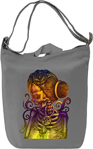 Lady Death Borsa Giornaliera Canvas Canvas Day Bag| 100% Premium Cotton Canvas| DTG Printing|