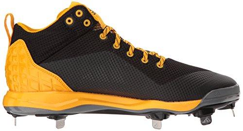 Zapatillas De Béisbol Adidas Hombres Freak X Carbon Mid, Negro Básico, Plateado Met, Oro Colegiado, 16 M Us