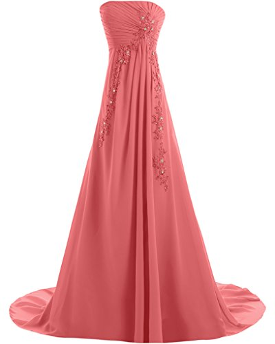 Missdressy - Vestido - trapecio - para mujer Wassermelone 38