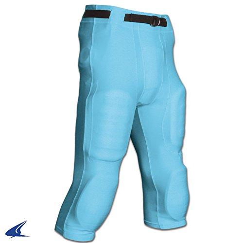 Game Pants Football Light - CHAMPRO FP10 POLY SPANDEX FOOTBALL ADULT GAME PANTS GOAL LINE POLY SPANDEX FOOTBALL GAME PANT Light Blue L