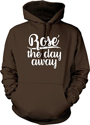 NOFO Clothing Co Rose The Day Away Hooded Sweatshirt, XXL Brown