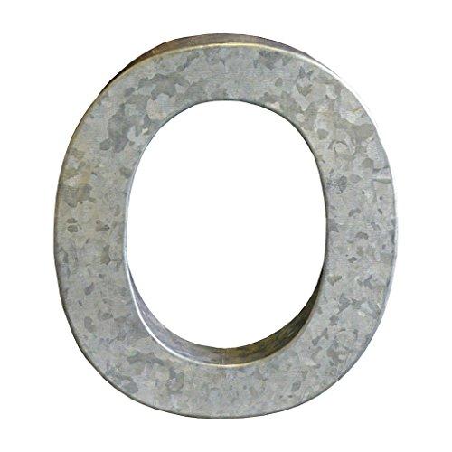 Modelli Creations Alphabet Letter O Wall Decor, Zinc