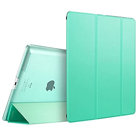 iPad 2 3 4 Case, ESR Smart Case Cover [Synthetic Leather] Translucent Frosted Back Magnetic Cover with Auto Sleep/Wake Function [Light Weight] (Mint (Ipad Generation Case)