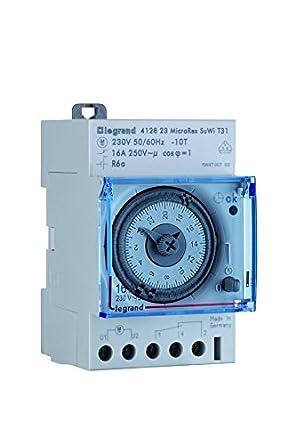 lacer dans qualité en ligne Legrand 412823 Interrupteur horaire journalier automatique 1 sortie/contact  16 A. NO/NF