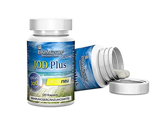Biomenta® JOD Plus - enthält Jod hochdosiert, Eisen, Selen, Folsäure - 120 Jod-Tabletten - 2 Monatskur