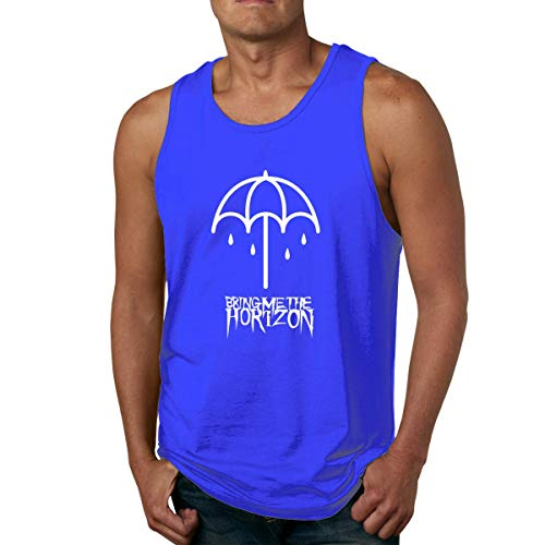 - Feytes Men's Tank Tops Bring-Me-The-Horizon Underwaist Funny Jersey Casual Sleeveless Vest T Shirt,Blue,Medium