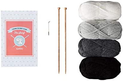 Knit Picks Learn to Knit Club: The Scarf - Beginner Knitting Kit (Neutral)
