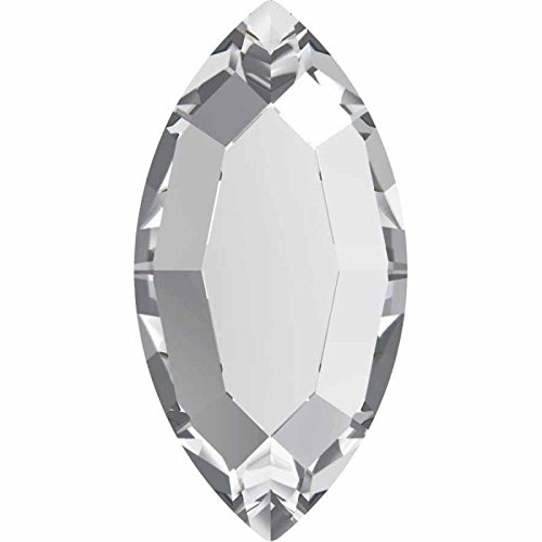 Marquis Shape (2200 Swarovski Nail Art Gems & Flatback Crystal Shapes Navette/Marquis | Crystal | 8x4mm - Pack of 360 (Wholesale) | Small & Wholesale Packs)