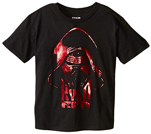Star Wars Big Boys' Red Ren T-Shirt, Black, Medium