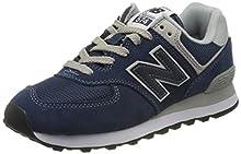 New Balance Women's 574 Core Sneaker, Navy, 8 B US