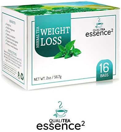 Weight Loss Tea Natural Organic Skinny Cleanse, 16 Pyramid Teabags – Herbal Belly Fat Burn Dieter's Blend – Energizing Appetite Suppressant Detox Teatox to Supplement Diet for Trim, Slim Figure