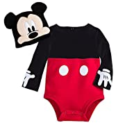 Disney Mickey Mouse Costume Bodysuit Set for Baby Red