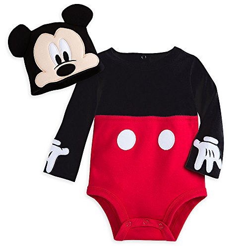 Character Costumes Hats (Disney Mickey Mouse Costume Bodysuit Set for Baby Size 12-18 MO Red)