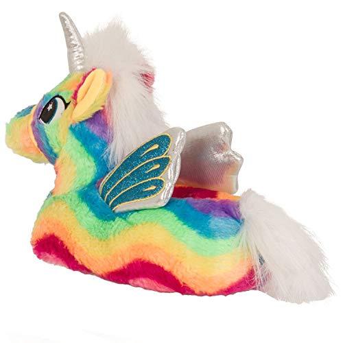 chaude Dames nouveauté pantoufle 3D la licorne Martildo douce Rainbow moelleux de fun cadeaux Flying Unicorn XZBZ4q