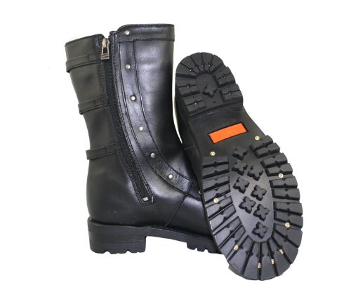 Xelement 2510 Siren Womens Black Strap Motorcycle Boots - 6