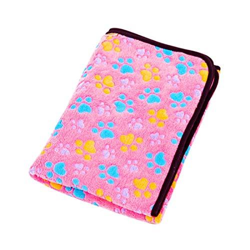 Pinji Super Soft Pet Blanket for Dog Cat Puppy Kitten Warm Fleece Indoor Pink L