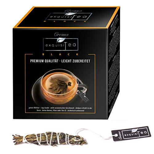 Creano exquisitea - Schwarzer Tee - ganze Teeblätter so einfach wie ein Teebeutel zubereitet – WELTNEUHEIT