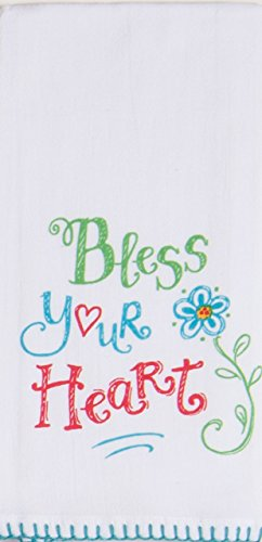 Kay Dee Designs Hey Y'all Bless Your Heart Krinkle Flour Sack Towel
