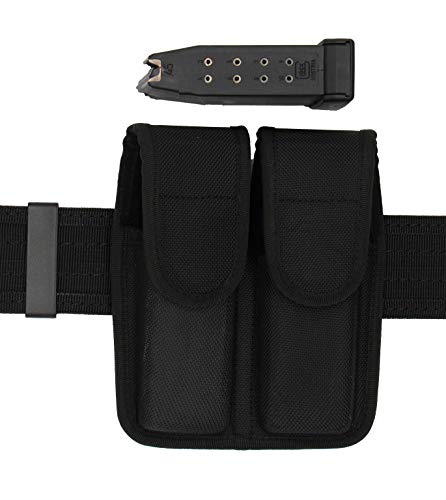 King Holster Tactical Dual Magazine Pouch | Fits Beretta Double Stack Mags/Ammo Clips | 9mm / .40 Cal / .45 Cal