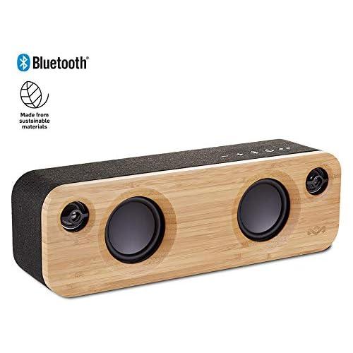 chollos oferta descuentos barato House of Marley Get Together Mini Sistema de audio Bluetooth inalámbrico portátil puerto USB para cargar otros dispositivos reproducción de hasta 8 h 24 W entrada auxiliar Negro