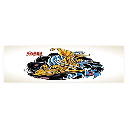 Dragonhome Fish Tank Decorations Vector koi Fish Tattoo Vector eps HD Fish Tank Decorations Sticker L23.6 x H19.6 ()