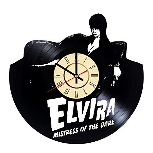Elvira Vinyl Clock Mistress of Dark Wall Decor Horror Gifts Zombie Wall Art Witchcraft Wall Decor Gift For Him Elvira Living Room Decor