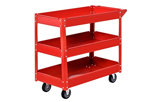 Muscle Carts SC3216-RED Teel Industrial Commercial Service Cart, 220 lb. by Muscle Carts (Image #2)