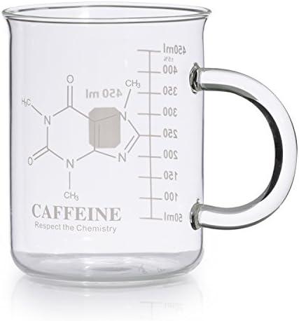 Caffeine Beaker Mug Molecule Borosilicate product image